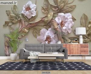 پوستر دیواری طرح گل فانتزی ۴۱۲۴-DA