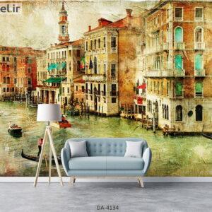 پوستر دیواری طرح شهر ونیز 4134-DA