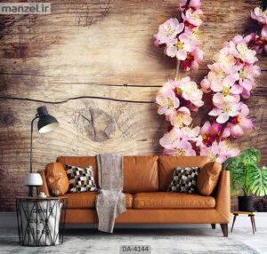 پوستر دیواری طرح گل و چوب ۴۱۴۴-DA