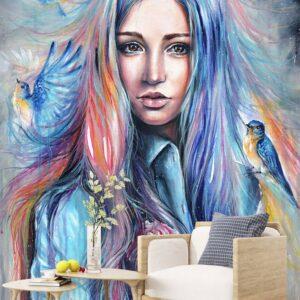 پوستر دیواری طرح چهره دختر 4164-DA