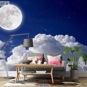 پوستر دیواری طرح ماه و آسمان 4182-DA