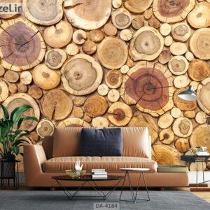 پوستر دیواری طرح چوب 4184-DA