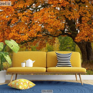 پوستر دیواری طرح جنگل پاییزی 4203-DA