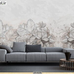 پوستر دیواری طرح برگ فانتزی 4236-DP