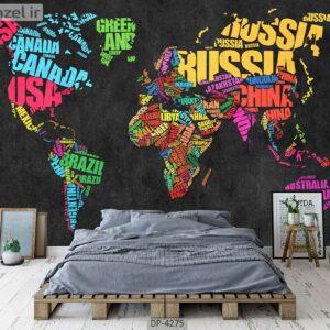 پوستر دیواری طرح نقشه جهان 4275-DP