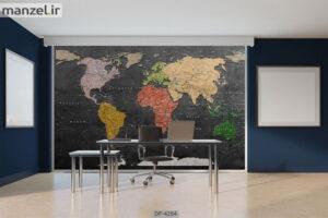 پوستر دیواری طرح نقشه جهان ۴۲۸۴-DP