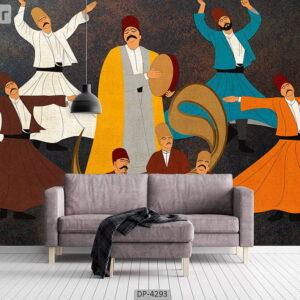 پوستر دیواری طرح نقاشی صوفی 4293-DP