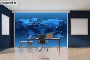 پوستر دیواری طرح نقشه جهان ۴۲۹۹-DA