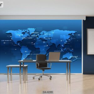 پوستر دیواری طرح نقشه جهان 4299-DA
