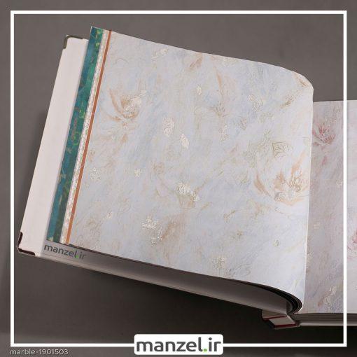 کاغذ دیواری طرح گل Marble کد 1901503