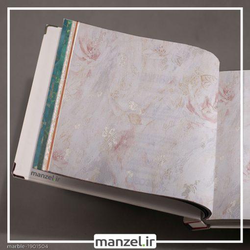 کاغذ دیواری طرح گل Marble کد 1901504