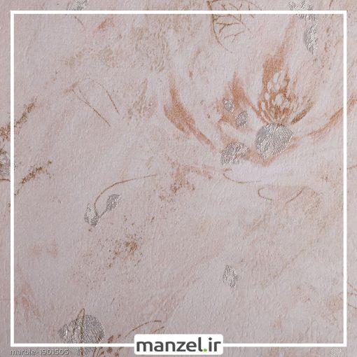 کاغذ دیواری طرح گل Marble کد 1901505