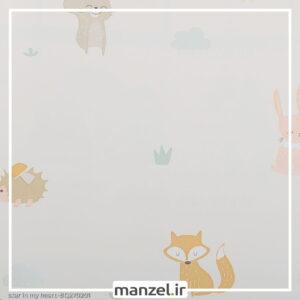 کاغذ دیواری طرح حیوانات کارتونی کد bq270201