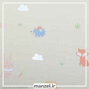 کاغذ دیواری طرح حیوانات کارتونی کد bq270204