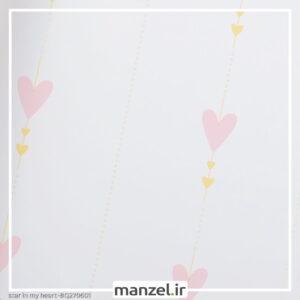 کاغذ دیواری طرح قلب کد bq270601