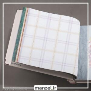 کاغذ دیواری طرح چهارخانه کد bq271104
