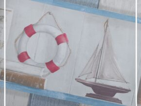 بوردر کاغذ دیواری طرح فانوس دریایی کد bq271201b