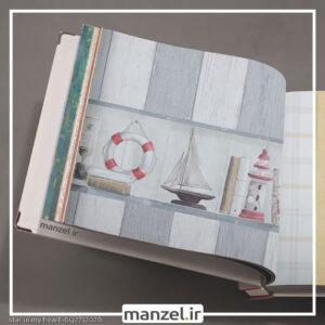 بوردر کاغذ دیواری طرح فانوس دریایی کد bq271202b