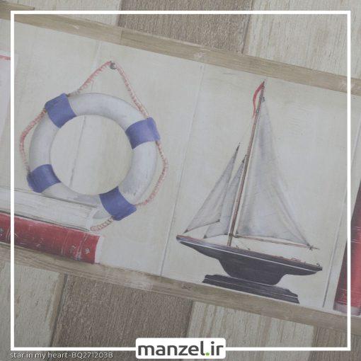 بوردر کاغذ دیواری طرح فانوس دریایی کد bq271203b