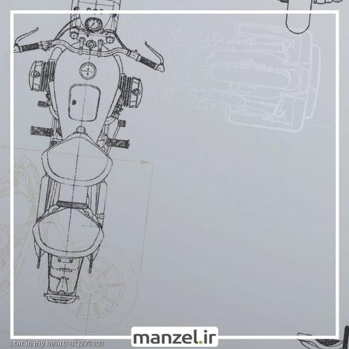 کاغذ دیواری طرح موتور سیکلت کد bq271401