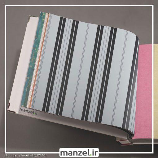 کاغذ دیواری طرح راه راه کد bq271501