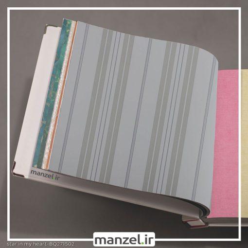 کاغذ دیواری طرح راه راه کد BQ271502