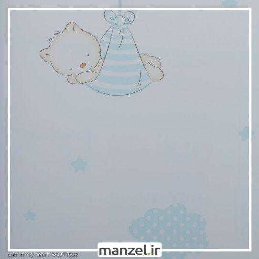 کاغذ دیواری طرح حیوانات کارتونی کد bq271602