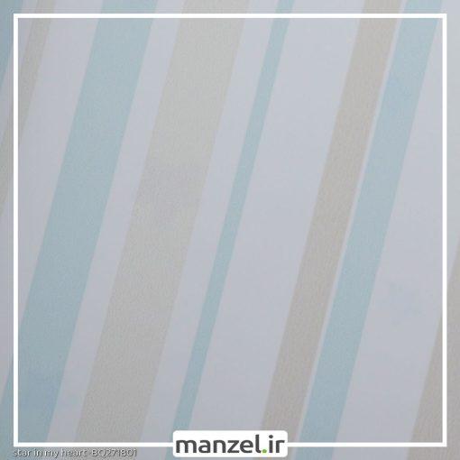 کاغذ دیواری طرح راه راه کد bq271801