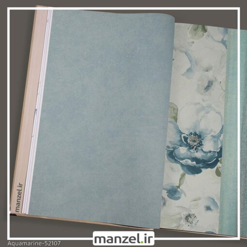 کاغذ دیواری طرح ساده Aquamarine کد 52107