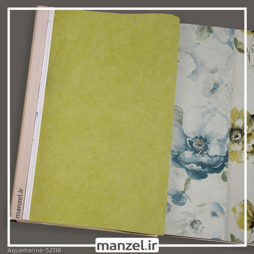 کاغذ دیواری ساده Aquamarine کد 52118
