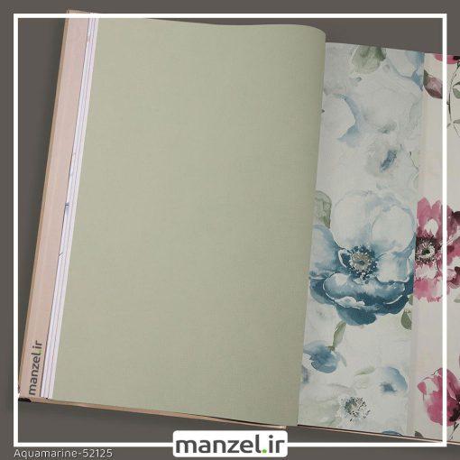 کاغذ دیواری ساده Aquamarine کد 52125