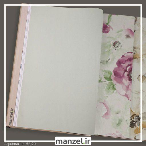 کاغذ دیواری ساده Aquamarine کد 52129