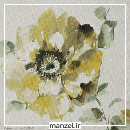 کاغذ دیواری گلدار Aquamarine کد 52204