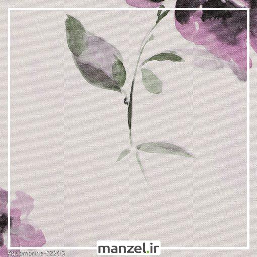 کاغذ دیواری گلدار Aquamarine کد 52205
