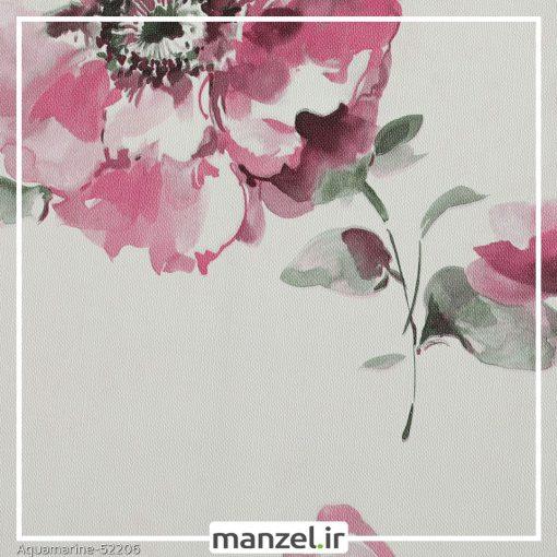 کاغذ دیواری گلدار Aquamarine کد 52206