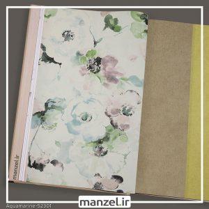 کاغذ دیواری گلدار Aquamarine کد 52301