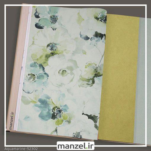 کاغذ دیواری گلدار Aquamarine کد 52302