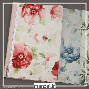 کاغذ دیواری گلدار Aquamarine کد 52401