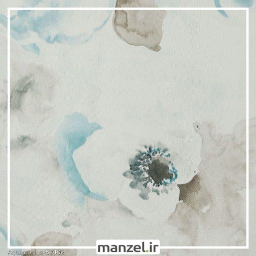 کاغذ دیواری گلدار Aquamarine کد 52402