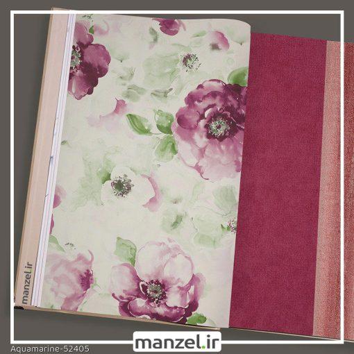 کاغذ دیواری گلدار Aquamarine کد 52405