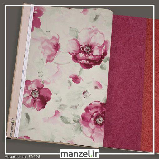 کاغذ دیواری گلدار Aquamarine کد 52406