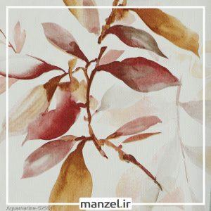 کاغذ دیواری طرح برگ Aquamarine کد 52501