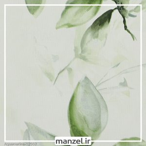 کاغذ دیواری طرح برگ Aquamarine کد 52502