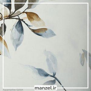 کاغذ دیواری طرح برگ Aquamarine کد 52504