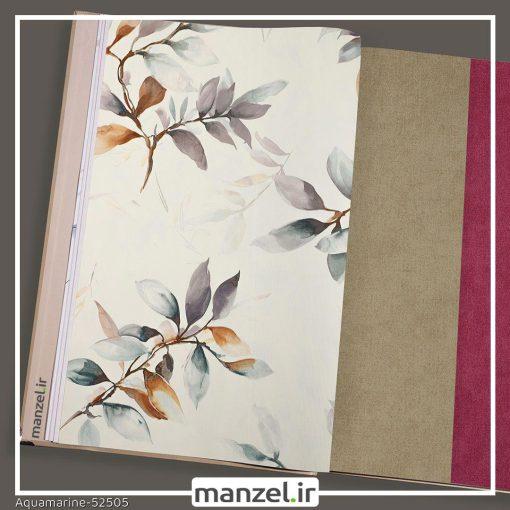 کاغذ دیواری طرح برگ Aquamarine کد 52505