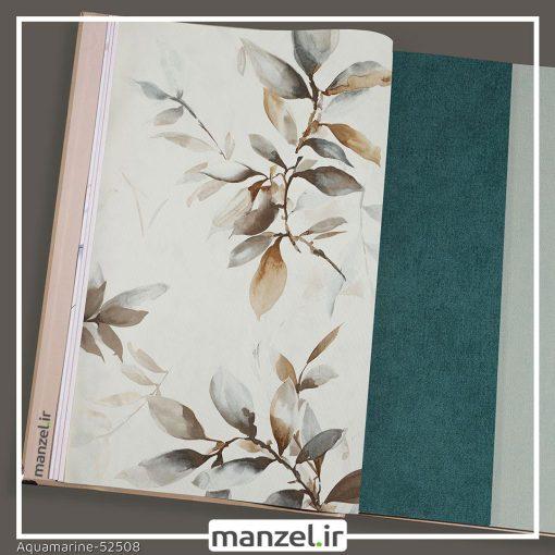 کاغذ دیواری طرح برگ Aquamarine کد 52508