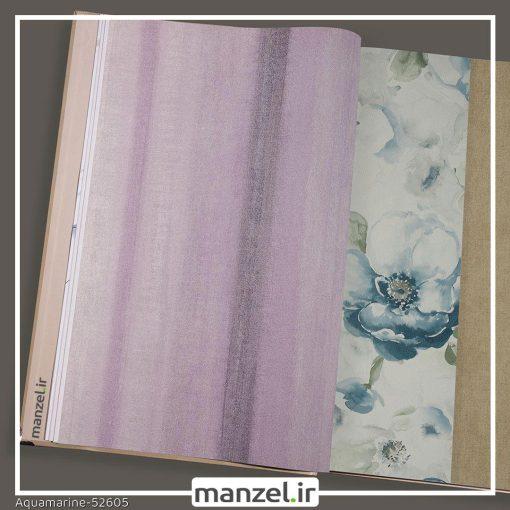 کاغذ دیواری راه راه Aquamarine کد 52605