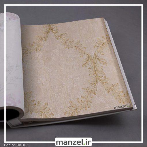 کاغذ دیواری گلدار Bonito کد 981103