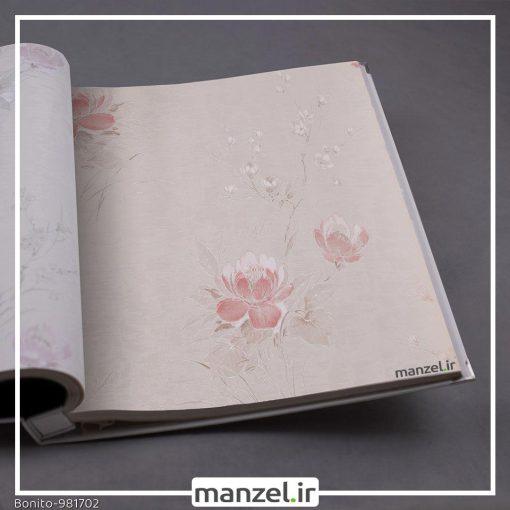 کاغذ دیواری گلدار Bonito کد 981702