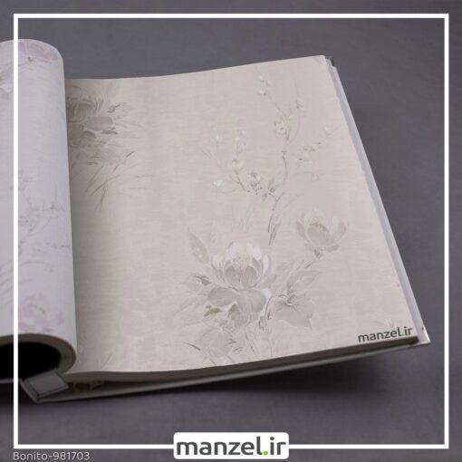 کاغذ دیواری گلدار Bonito کد 981703